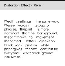 Rivers of text