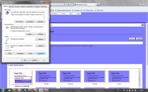 blue colour background for Blackboard