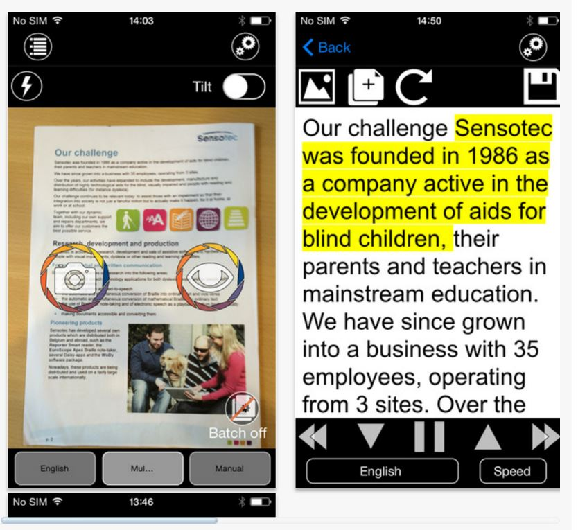KNFB Reader app – Take a photo then have text read aloud | Lexdis 2 0