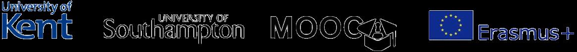 Kent,southampton, MOOCAP and Erasmus+ logos