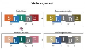 Visolve showing colours of a logo
