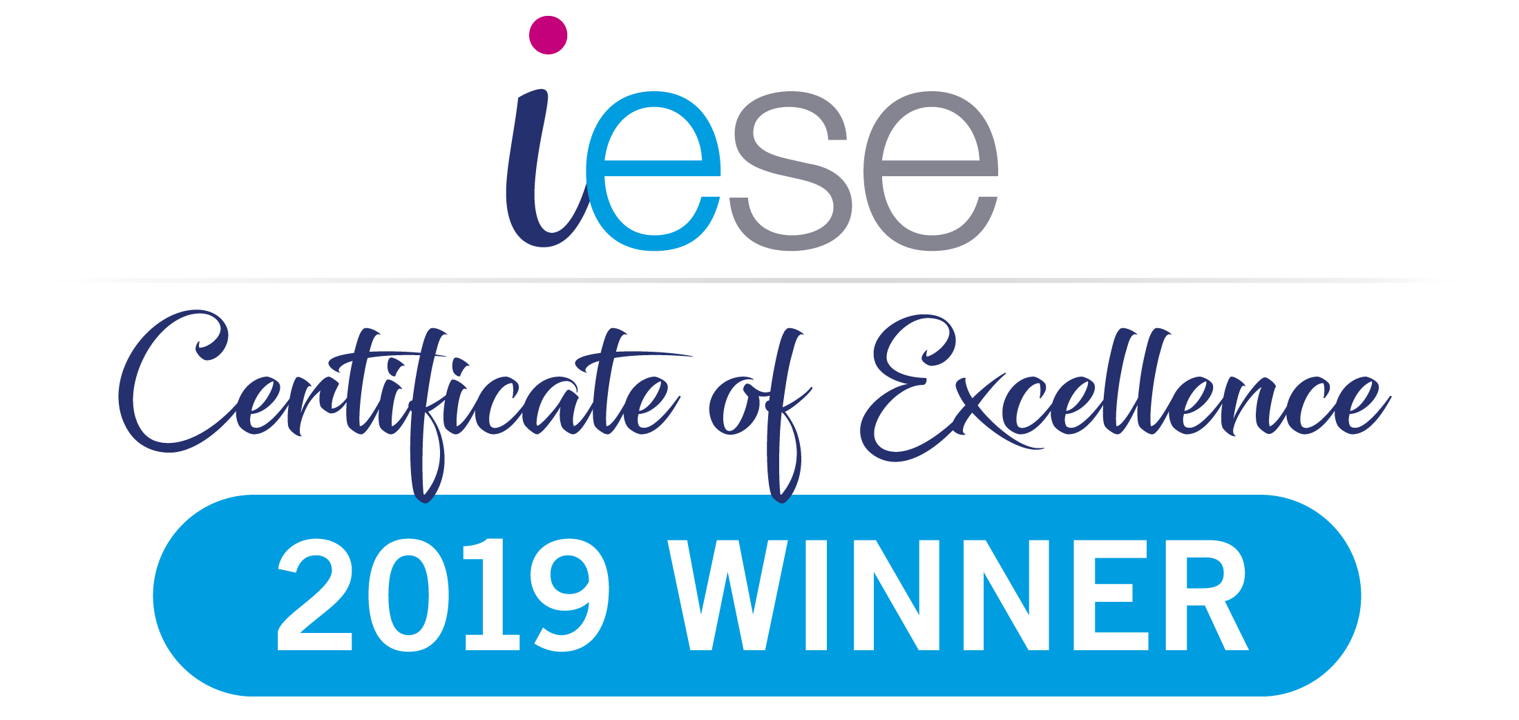 iese certificate of excellence 2019 winner logo